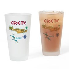 crete_t_Shirt_maP Drinking Glass