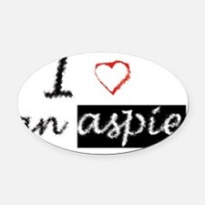 aspie Oval Car Magnet