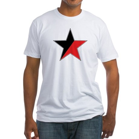 Anarcho-Syndicalist Star Tee (red and black)