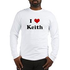 I Love Keith Long Sleeve T-Shirt