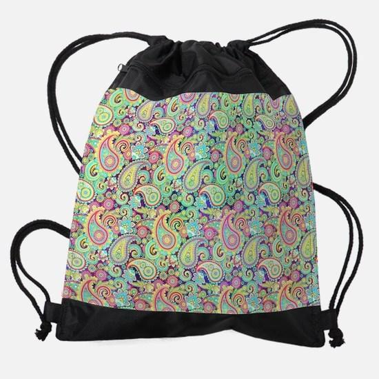 Spring paisley Drawstring Bag