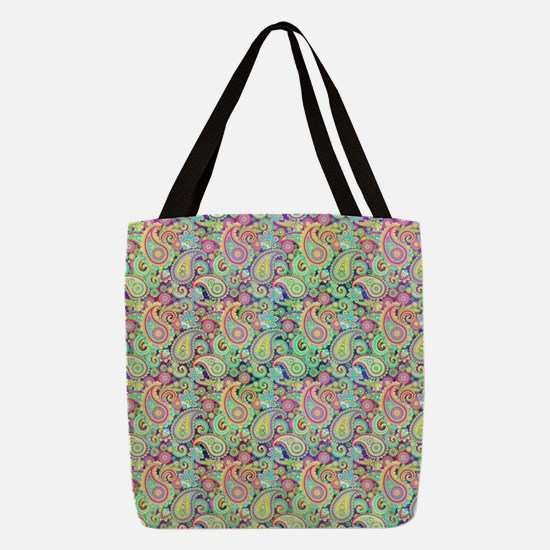 Spring paisley Polyester Tote Bag