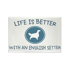 English Setter Rectangle Magnet