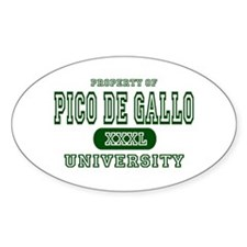 Pico de Gallo University Oval Decal