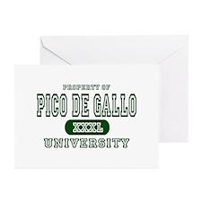 Pico de Gallo University Greeting Cards (Package o