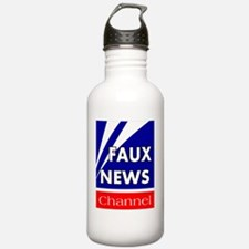 faux news channel whit Water Bottle