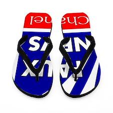 faux news channel white Flip Flops