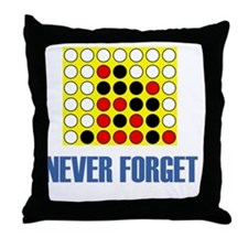 Never forget-connect four-1 Throw Pillow