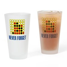 Never forget-connect four-1 Drinking Glass