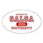 Salsa University Oval Sticker