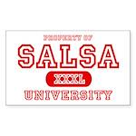 Salsa University Rectangle Sticker