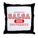 Salsa University Throw Pillow