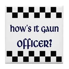 2-10x10_apparel_helloOfficer copy Tile Coaster