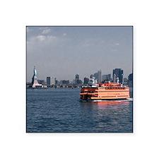 "(15s) Staten Island Ferry Square Sticker 3"" x 3"""