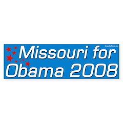 Missouri for Obama 08 Bumper Bumper Sticker