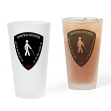 Border Patrol Patch Colored Shirts Drinking Glass