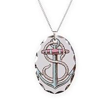 sailorukes_color_anchor.eps Necklace Oval Charm