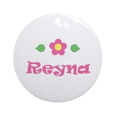 "Pink Daisy - ""Reyna"" Ornament (Round)"