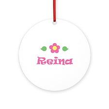 "Pink Daisy - ""Reina"" Ornament (Round)"