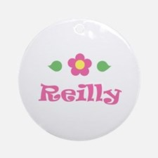 """Pink Daisy - """"Reilly"""" Ornament (Round)"""