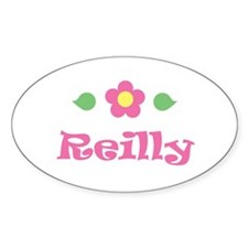 """Pink Daisy - """"Reilly"""" Oval Decal"""