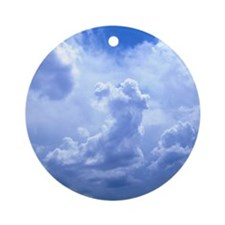 MousePad_SkyBlue Round Ornament