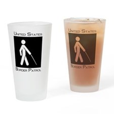 Square Fron or Back Border Patrol Drinking Glass
