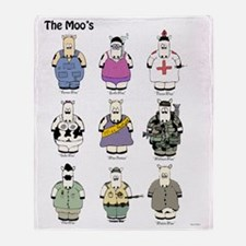 The_moos_poster Throw Blanket