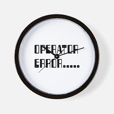 Operator_Error_KrubDesigns Wall Clock