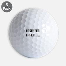 Operator_Error_KrubDesigns Golf Ball