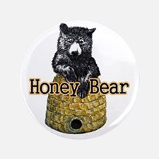 """honey bear 3.5"""" Button"""