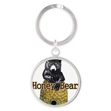 honey bear Round Keychain