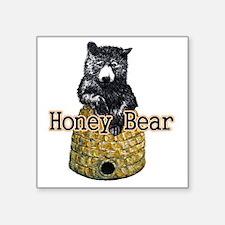 "honey bear Square Sticker 3"" x 3"""
