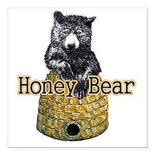 "honey bear Square Car Magnet 3"" x 3"""