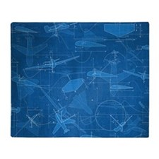 Aerodynamics Throw Blanket