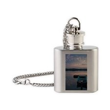 Queen Mary - Print Flask Necklace