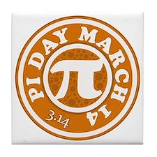 Pi Day 3/14 Circular Design Tile Coaster