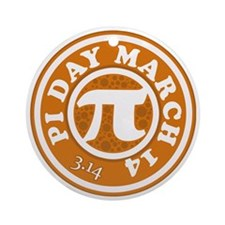 Pi Day 3/14 Circular Design Round Ornament