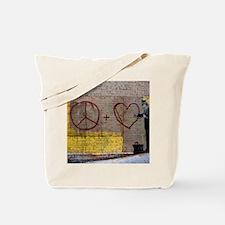 PeaceLoveGraffitiSF Tote Bag