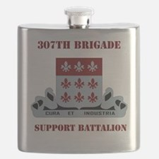 DUI-307 SUPPORT BATTALION WITH TEXT Flask