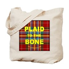 chat2plaid4x4circle 2a Tote Bag