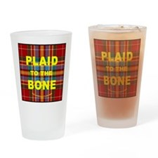 chat2plaid4x4circle 2a Drinking Glass
