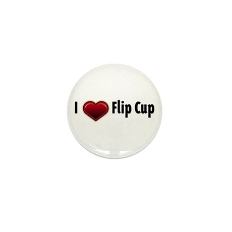 I heart Flip Cup Mini Button (100 pack)