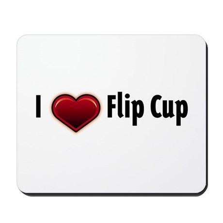I heart Flip Cup Mousepad