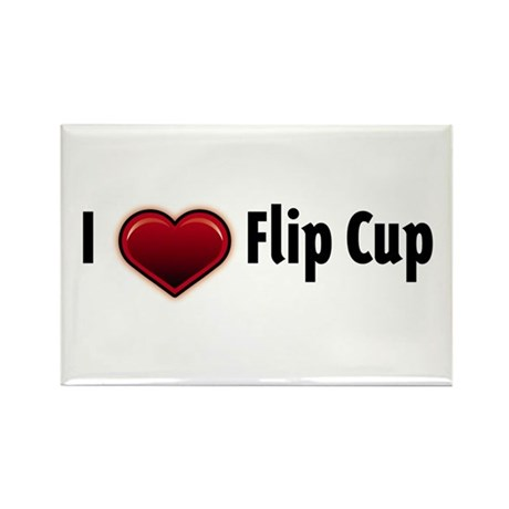 I heart Flip Cup Rectangle Magnet