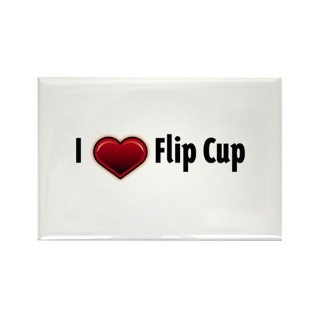 I heart Flip Cup Rectangle Magnet (10 pack)