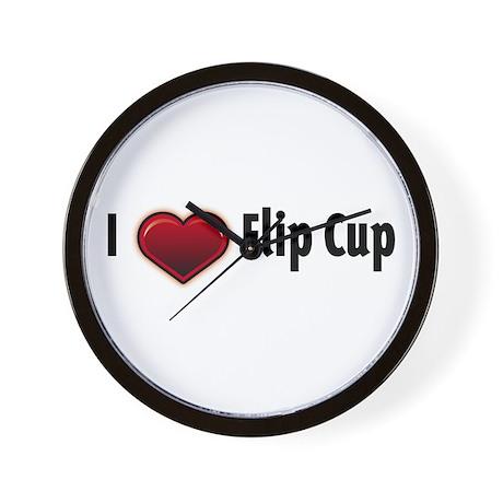 I heart Flip Cup Wall Clock
