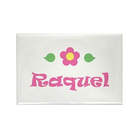 "Pink Daisy - ""Raquel"" Rectangle Magnet"