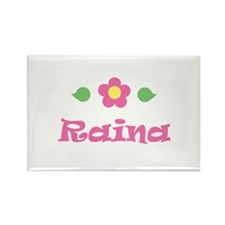 "Pink Daisy - ""Raina"" Rectangle Magnet"