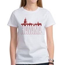 havana_skyline_red_white Tee